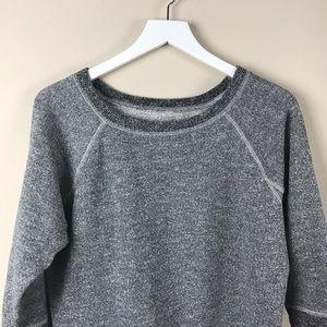 Madewell Hi-Line Gray Crew Neck Sweater Sz M